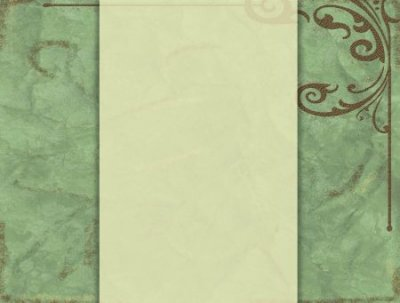 green, florish, cream