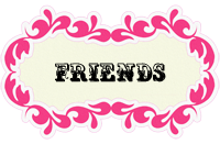 Friends Pink Button