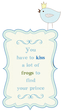 Kiss Frogs Button