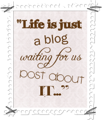 Life Is Just A Blog Button