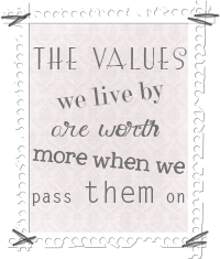 The Values We Live By Button