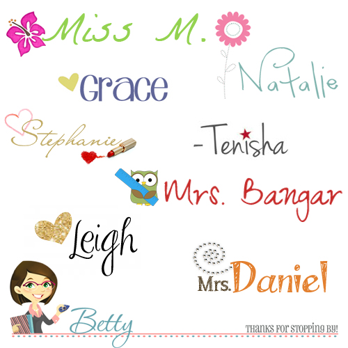 Cute custom signature blog blogger ideas the cutest blog for Fun blog ideas