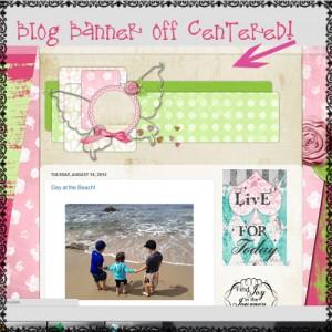 how to center blog banner header on blogger