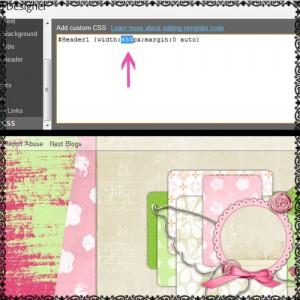 how to center blog banner header on blogger 4
