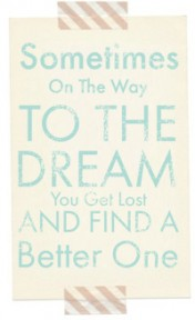 Sometimes on the way to a dream free blog button vintage teal copy