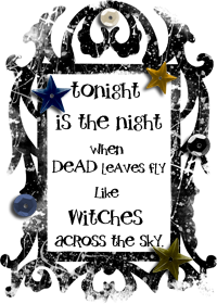 Witch Couture free halloween shabby pretty damask blog button  copy