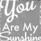 You Are My Sunshine gray grey button free blog vintage sign copy