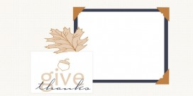 chic little acorn banner free fall thanksgiving blog background layout template wallpaper