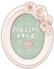 follow me flower frame button copy