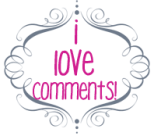 i love comments free blog blogger button chic