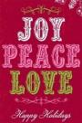 joy peace love button