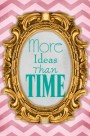 more ideas than time pink turquoise bronze free blog button chic modern copy