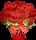 rose bouquet button