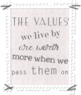 the values we live by button copy