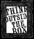 think outside the box black free blog button vintage black frame copy