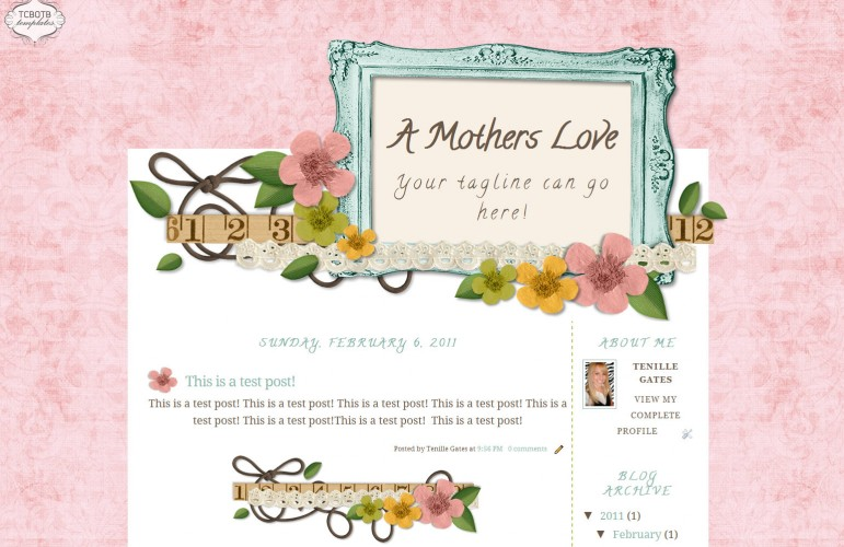 A Mothers Love 2 Column Template