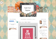 fadedfaire3column free blogger template cute
