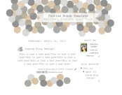 festive bokeh 2col free blog template layout