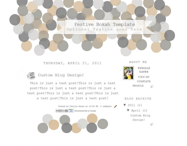 2 Column Bloger Templates Festive | Bokah | The Cutest Blog On The Block