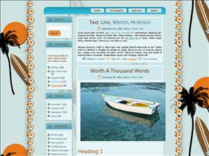 free surfer girl wordpress theme preview