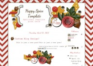happy spice 2col free cute blog template layout