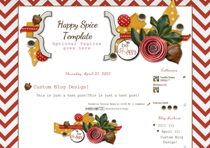 Fall blog template the cutest blog on the block happy spice 2col free cute blog template layout pronofoot35fo Images