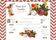 happy spice 3 col free cute blog template layout