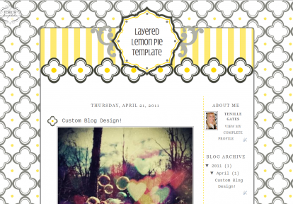 layeredlemon2column free cute summer blog template