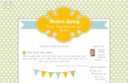 modern spring 2 column free cute modern chic blog template layout