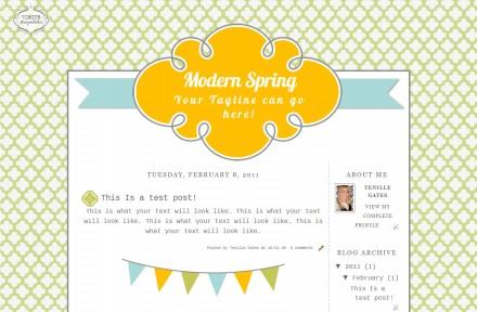 modern spring 2 column free cute modern chic blog template layout