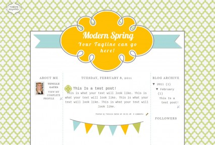modern spring 3 column free cute modern chic blog template layout