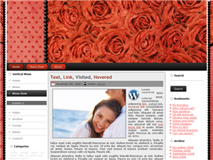 roses are red wordpress theme