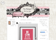 rue3column free shabby vintage cute blog template