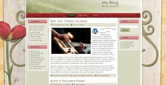 shabby abbey screenshot free wordpress themes