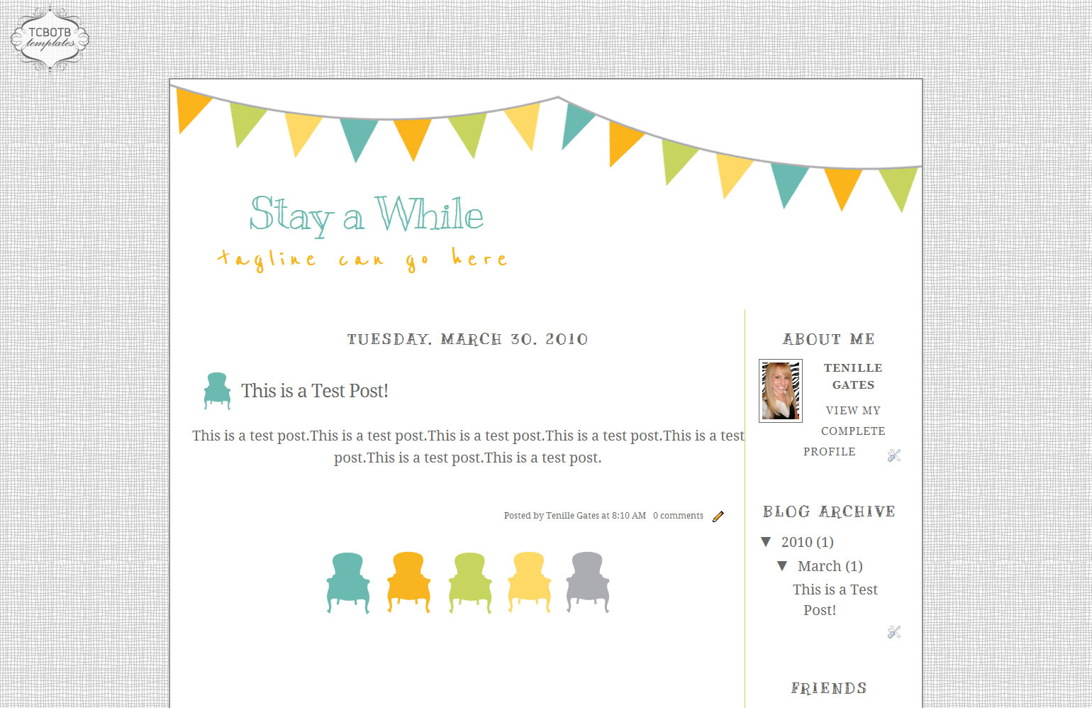 Stay Awhile | Blog Template | The Cutest Blog On The Block
