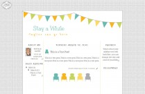 stay awhile 3 column free cute blog template layout