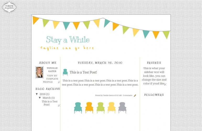 Stay awhile blogspot template the cutest blog on the block stay awhile 3 column template maxwellsz