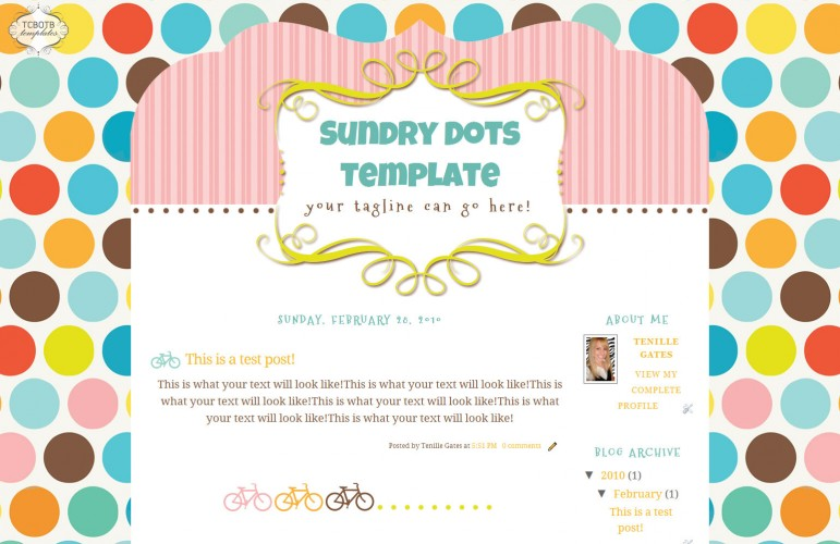 Sundry Dots 2 Column Template