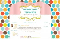 sundry dots 3 column free cute modern chic blog template layout