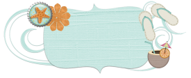 summer bliss free beach BANNER blog design
