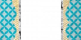 swiss dot free modern chic teal mustard free blog background 3 column