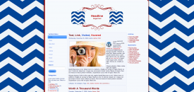 chevron patriot free wordpress template