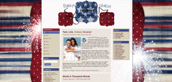 free as can be patriot free wordpress template
