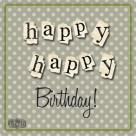 happy happy birthday facebook polka goodie free green and black