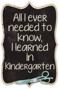 playground daze blog button quote about kindergarten