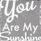 you are my sunshine gray facebook bling