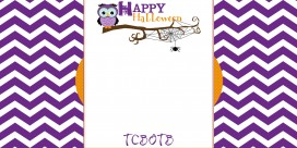 Chevron Owl free halloween blog background preview 2 column