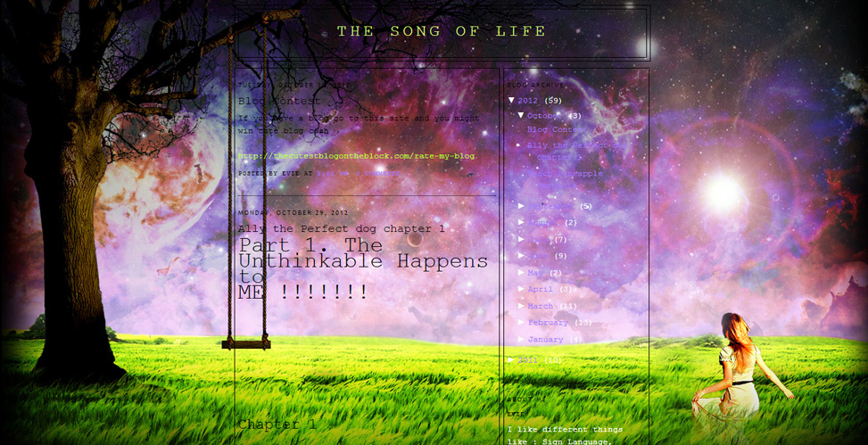 The Song of Life | The Cutest Blog On The Block