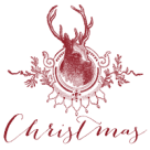 deer christmas button