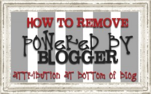 how to remove powered by blogger attribution credit on blogger